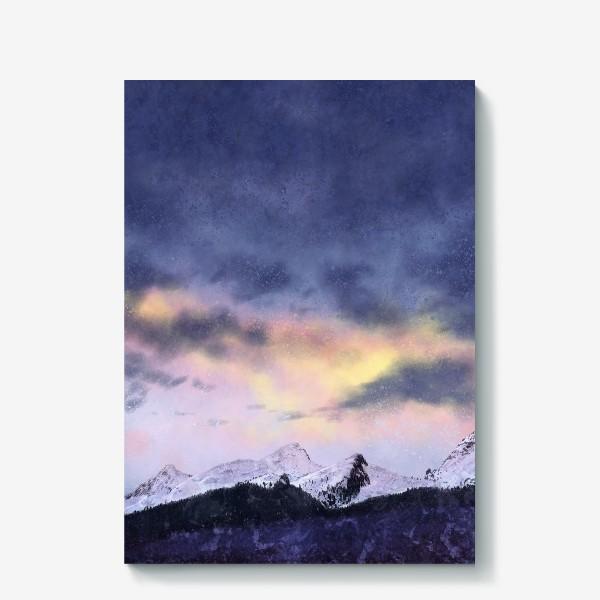 Холст «Рассвет в горах»