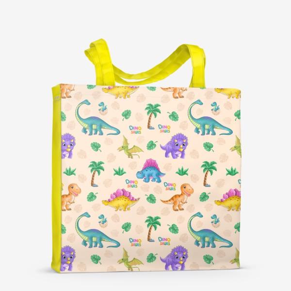Сумка-шоппер «Динозавры»