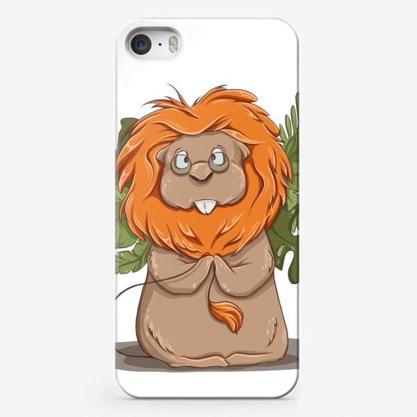 """Чехол iPhone «Хомяк под прикрытием. Позывной """"Лев""""»"""