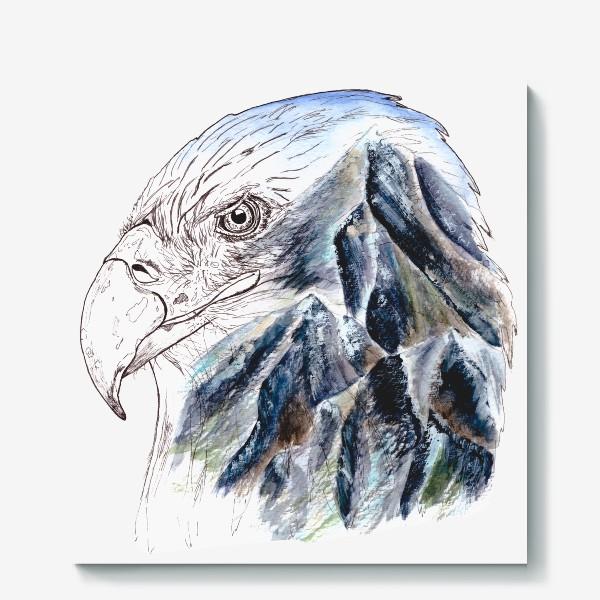 Холст «Орел и горы»