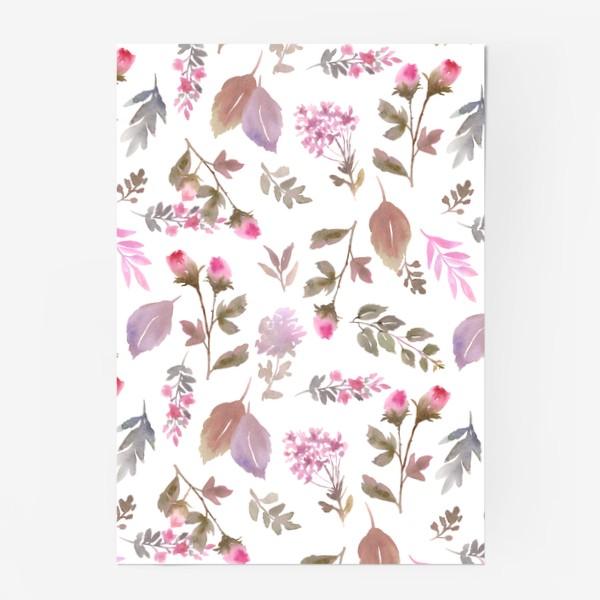 Постер «Нежные розовые бутоны на белом фоне»