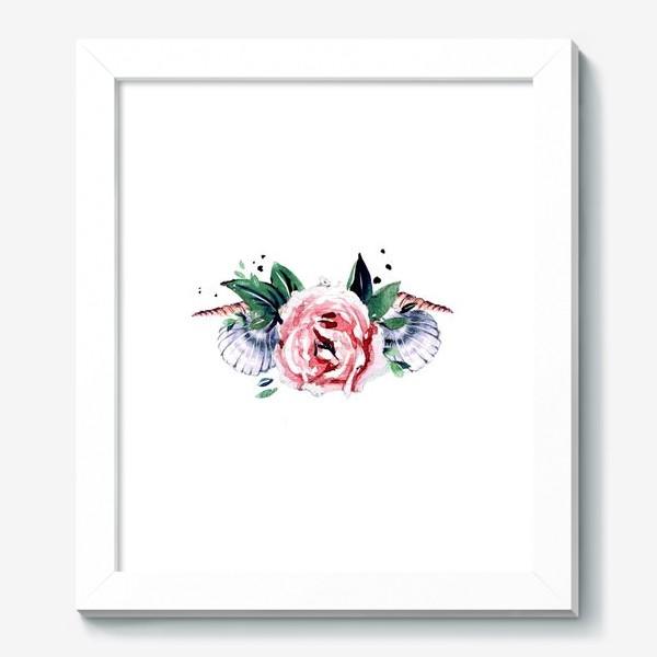 Картина «венок из ракушек»