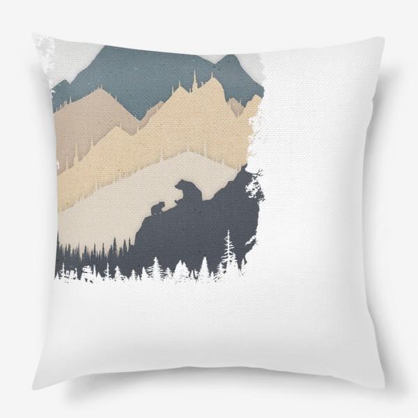 Подушка «Bear In The Mountains»