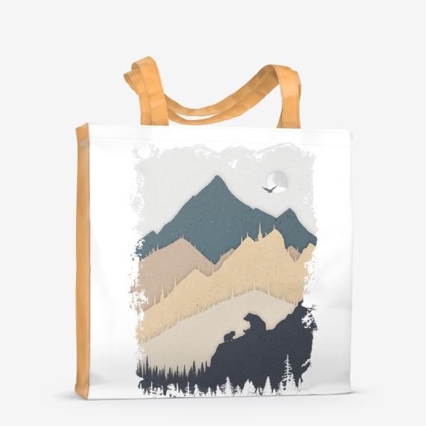 Сумка-шоппер «Bear In The Mountains»