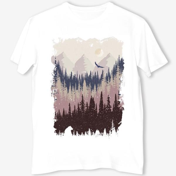 Футболка «Mountains Forest Animals»