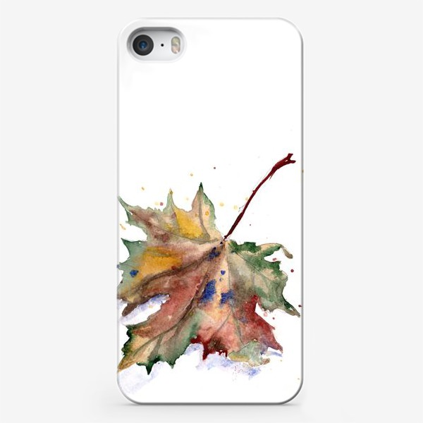 Чехол iPhone «Лист кленовый»