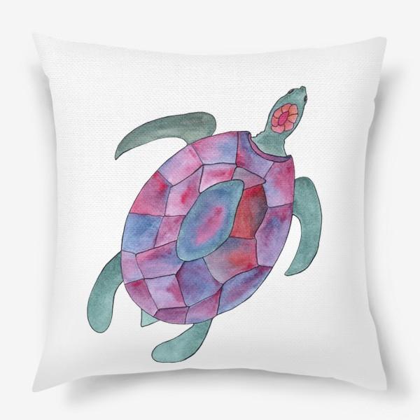 Подушка «Черепаха. Королева морских глубин.»