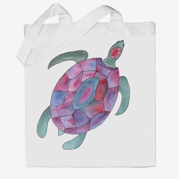 Сумка хб «Черепаха. Королева морских глубин.»