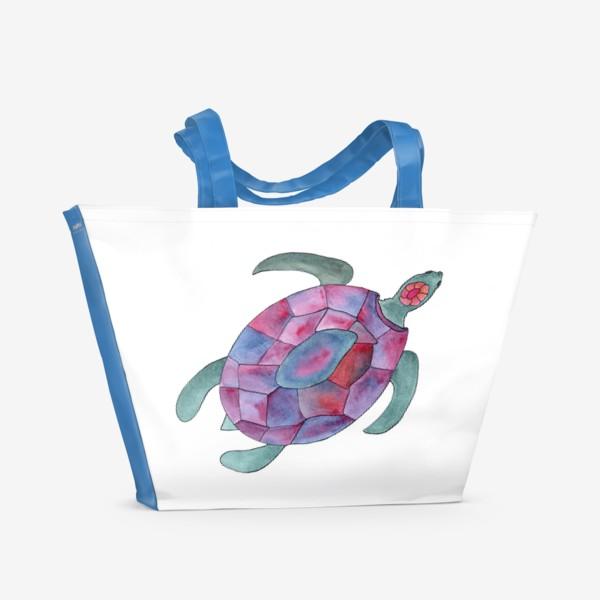 Пляжная сумка «Черепаха. Королева морских глубин.»