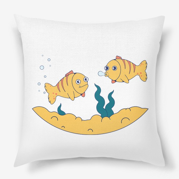 Подушка «Золотые рыбки»