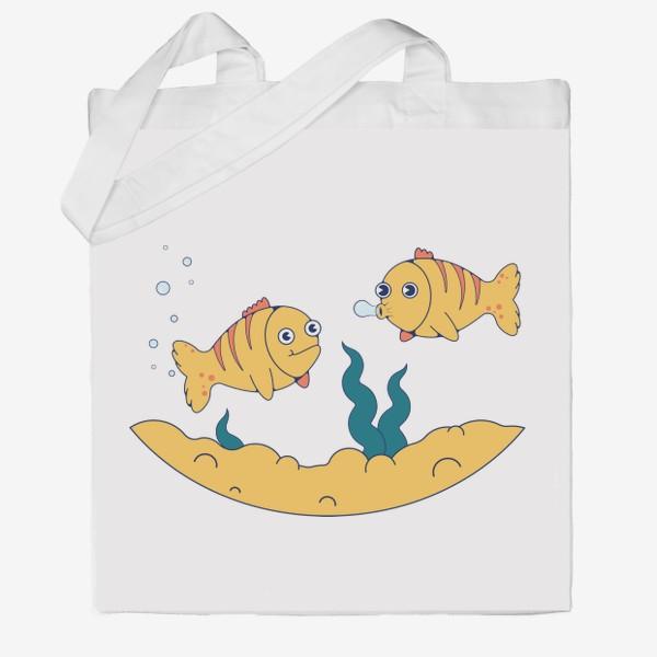 Сумка хб «Золотые рыбки»
