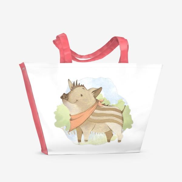 Пляжная сумка «Лесной поросенок »