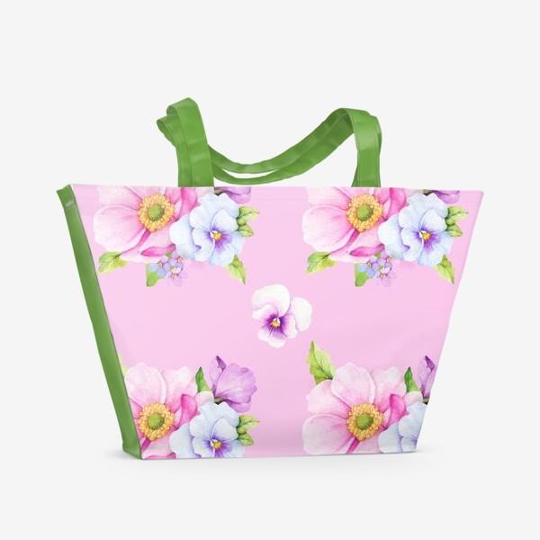 Пляжная сумка «Летний букет»