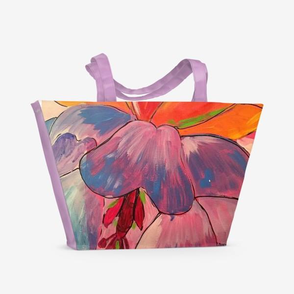 Пляжная сумка «бутоны»