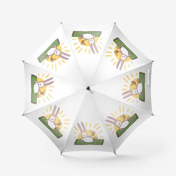 Зонт «Зайчик на пляже. Отдых»