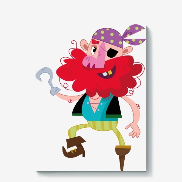 Холст «Веселый одноногий пират»