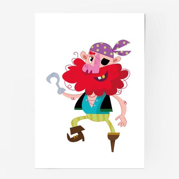Постер «Веселый одноногий пират»