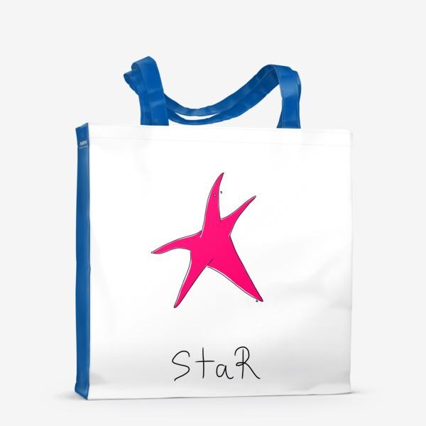 Сумка-шоппер «Звезда! Просто звезда. Морская. Лето»