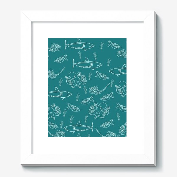 Картина «морские обитатели»