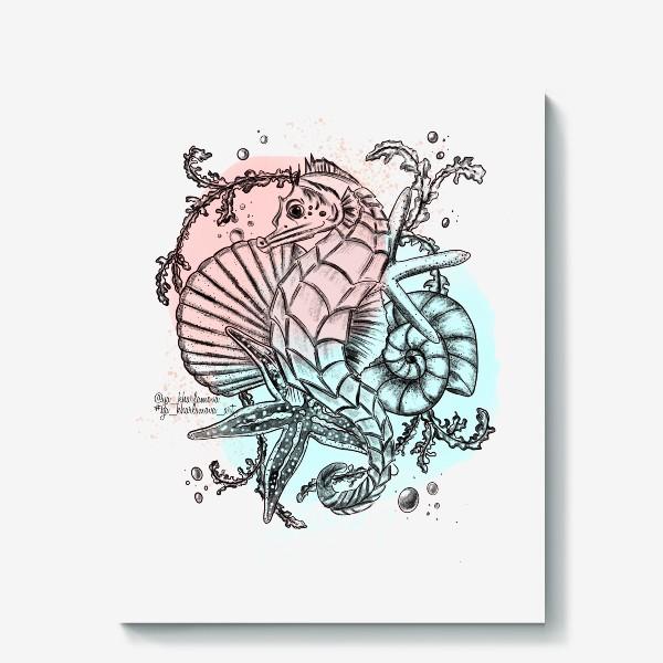Холст «Морской мир. Конёк »