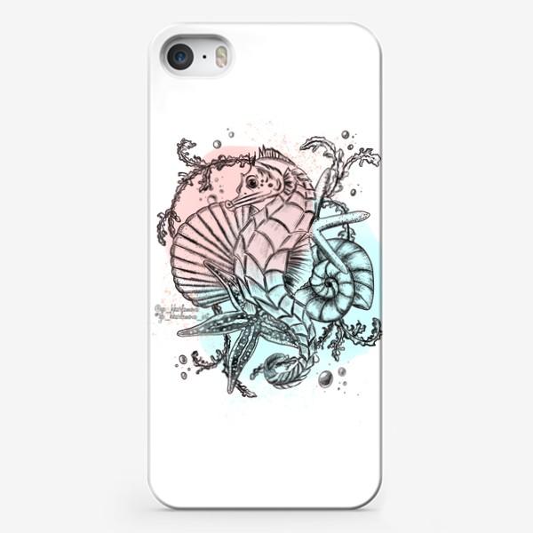 Чехол iPhone «Морской мир. Конёк »