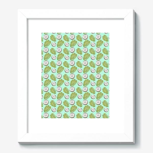 Картина «Кокосы  и листья»