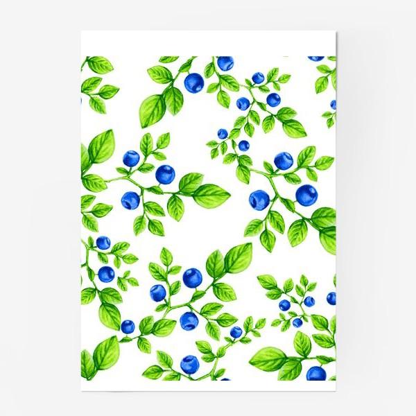 Постер «Черника.Паттерн. /Blueberry. Pattern.»