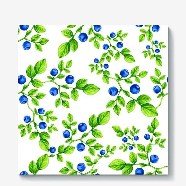 Холст «Черника.Паттерн. /Blueberry. Pattern.»