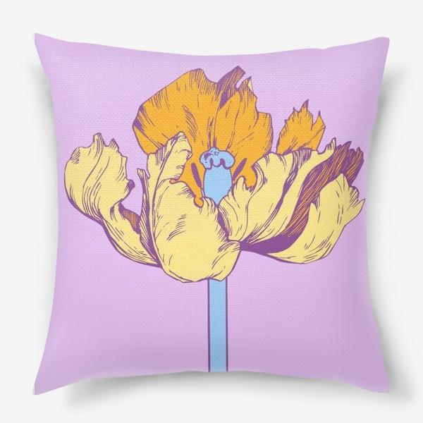 Подушка «Желтый тюльпан»