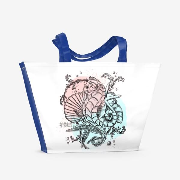 Пляжная сумка «Морской мир. Конёк »