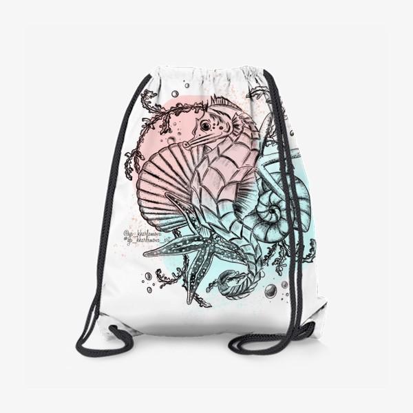 Рюкзак «Морской мир. Конёк »