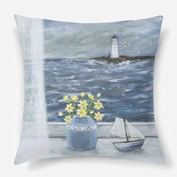 Подушка «Окно в море...»