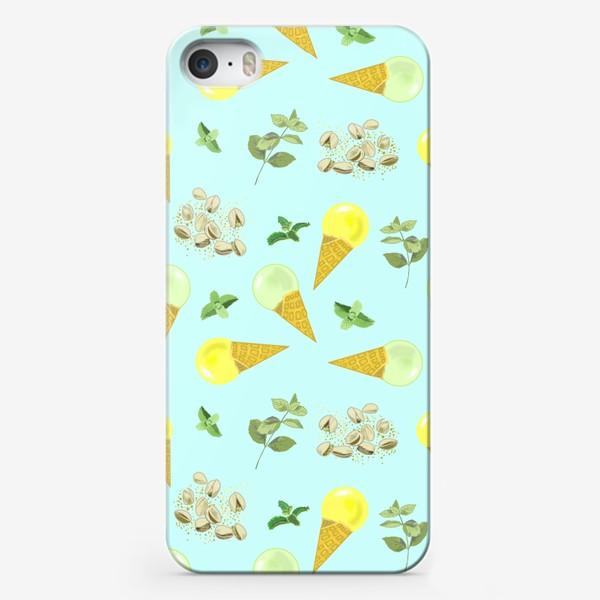 Чехол iPhone «Фисташковое мороженное и веточки мяты»
