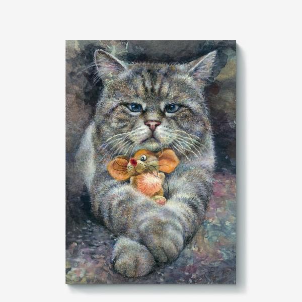 Холст «Кот и мышка»