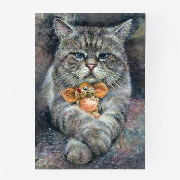 Постер «Кот и мышка»