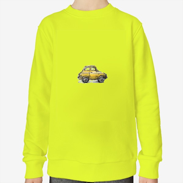 Свитшот «желтая машина»