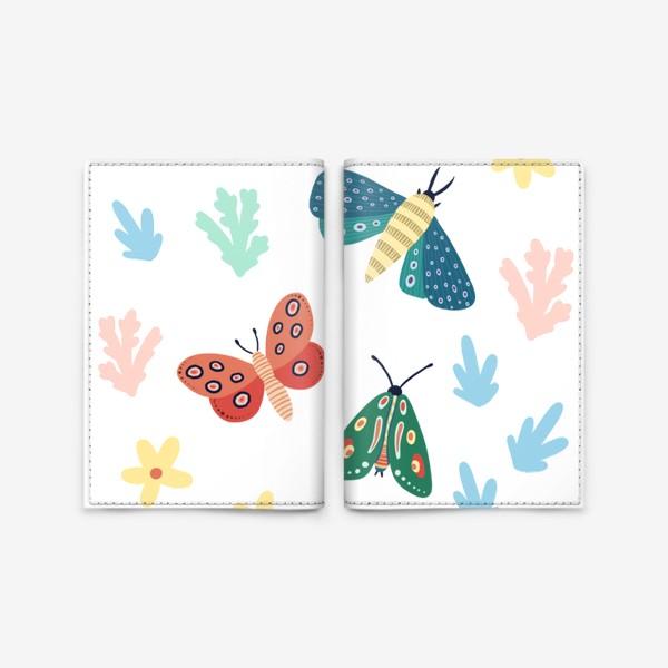 Обложка для паспорта «Бабочки »