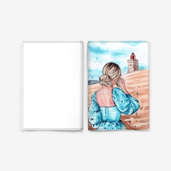 Обложка для паспорта «голубые грёзы»