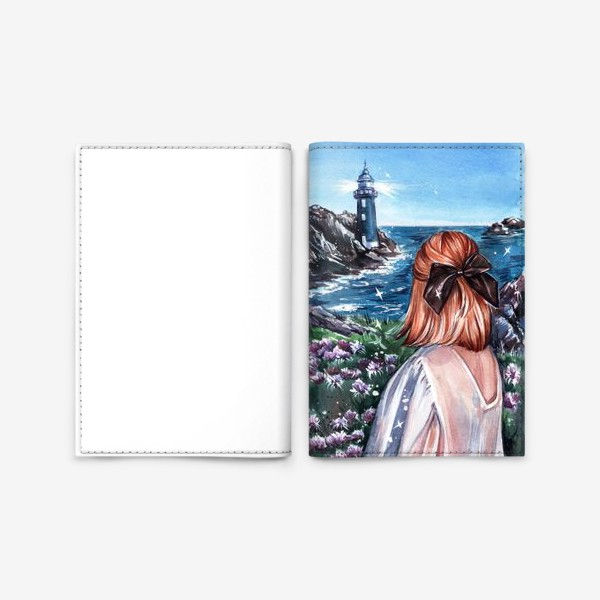 Обложка для паспорта «маяк»