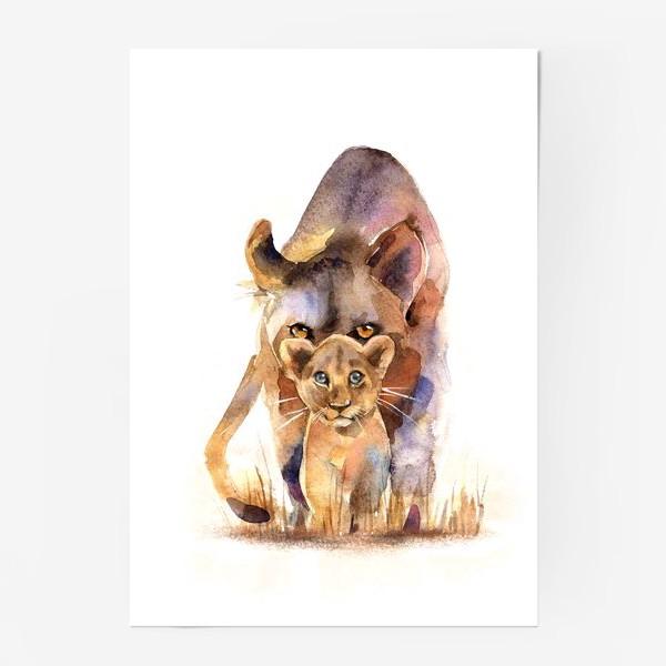 Постер «ЛЬВИЦА И МАЛЫШ»