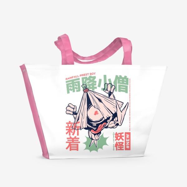 Пляжная сумка «Дух Дождя Амэфури кодзо - Японская мифология»