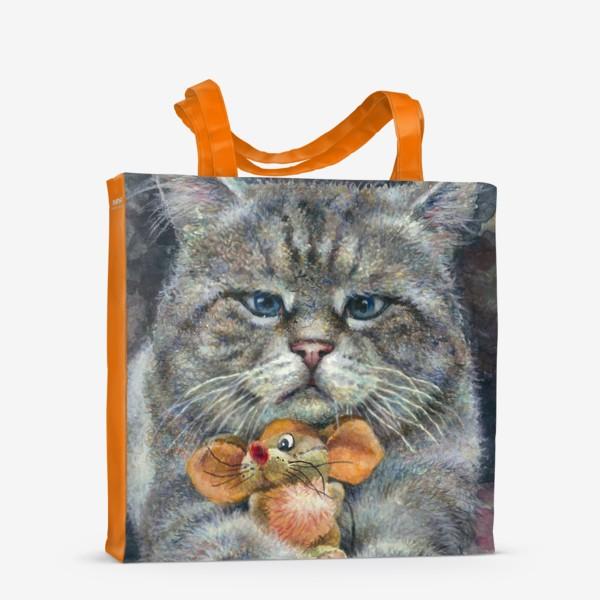 Сумка-шоппер «Кот и мышка»