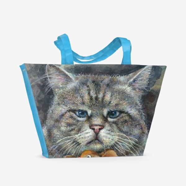 Пляжная сумка «Кот и мышка»
