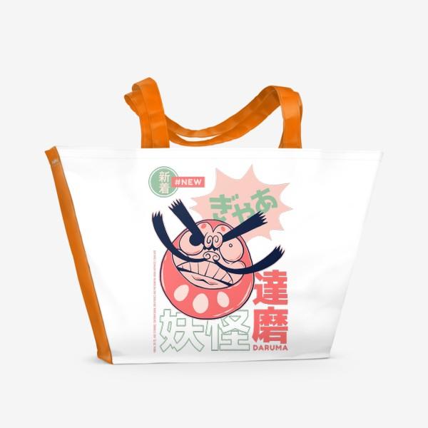 Пляжная сумка «Дарума кукла неваляшка - Японская мифология»