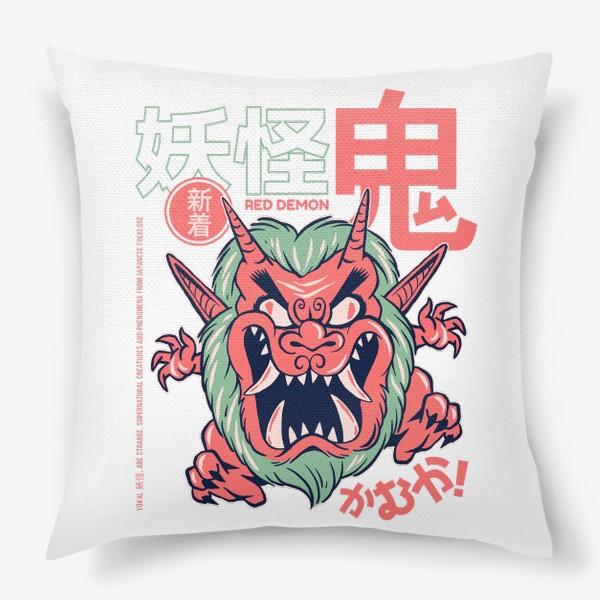Подушка «Злой демон ёкай Они - Японская мифология»