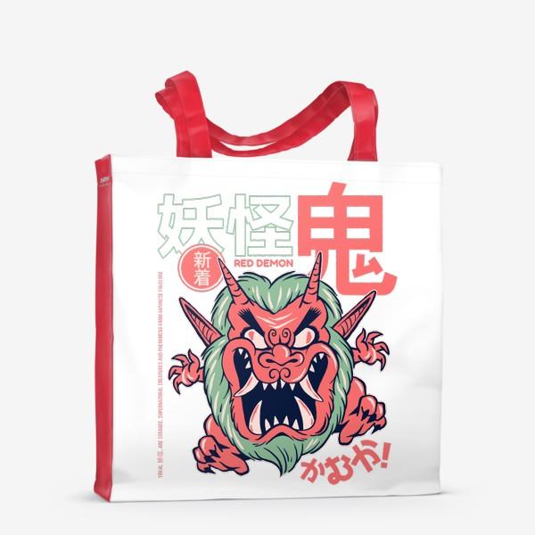 Сумка-шоппер «Злой демон ёкай Они - Японская мифология»