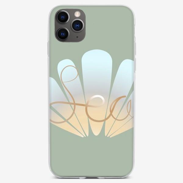 """Чехол iPhone «Принт с надписью """"Sea""""»"""