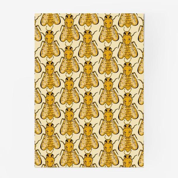Постер «Золотые пчелы на бледно-желтом»