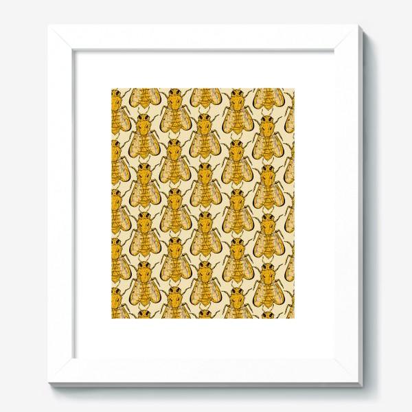 Картина «Золотые пчелы на бледно-желтом»
