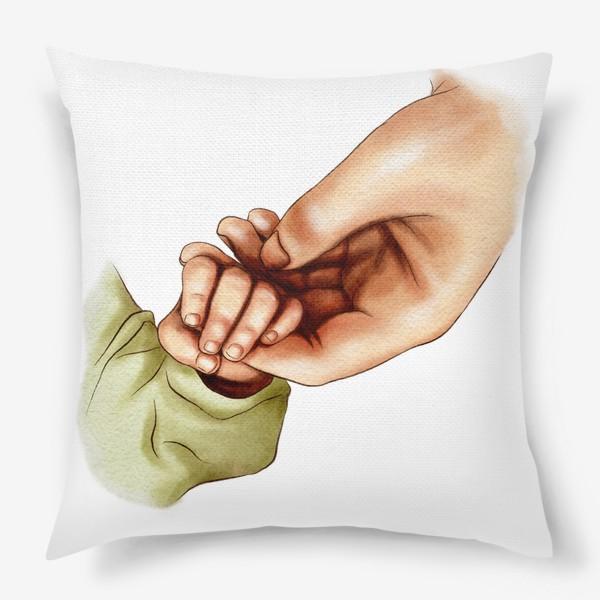 Подушка «Рука матери и ребенка»